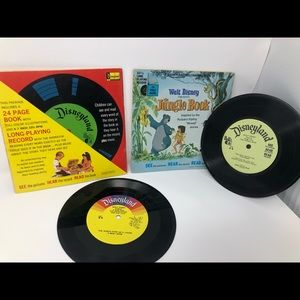 Vintage Disneyland 45 record and book | 45 record
